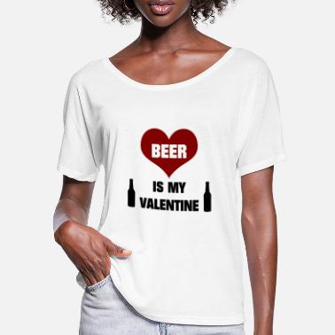 Boozer Beer is my Valentine's Day drunkard drinker alcohol - Women's Batwing T-Shirt