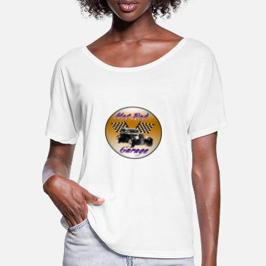 Autorennen Hot Rod - Frauen Fledermaus T-Shirt