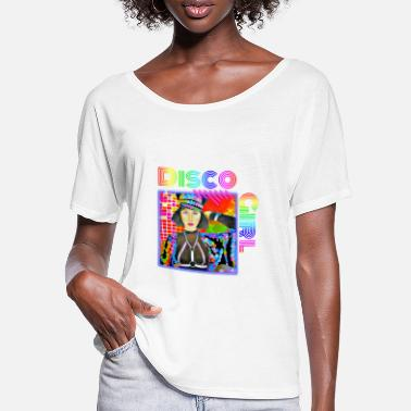 Discothek Disco Girl Party Mouse - Women's Batwing T-Shirt
