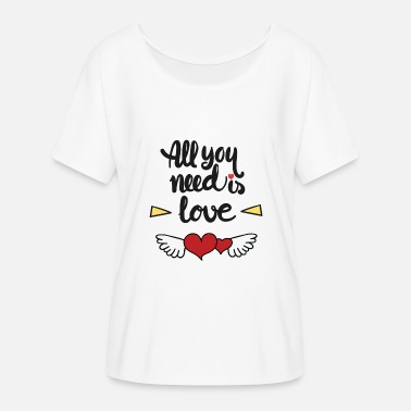 All You Need Is Love - T-shirt manches chauve-souris Femme