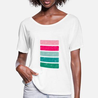 color scheme very colorful Sommer Sommerfarben - Frauen Fledermaus T-Shirt
