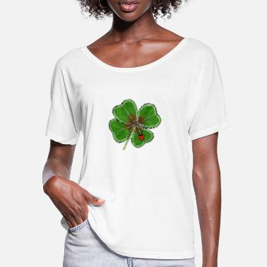 Lucky Clover Lucky clover with lucky beetle - Women's Batwing T-Shirt