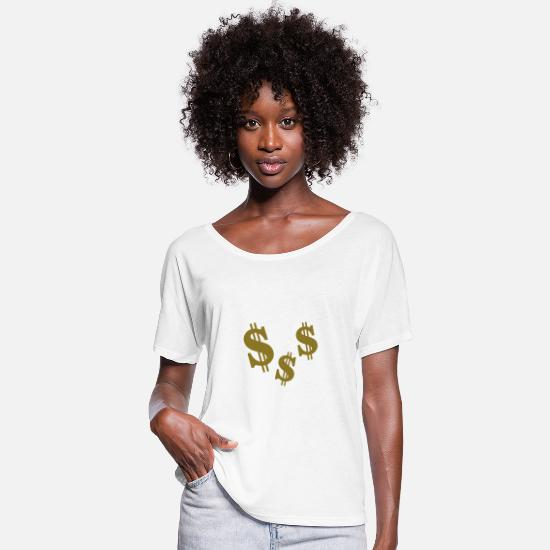 Money T-Shirts - Dollar - Women's Batwing T-Shirt white