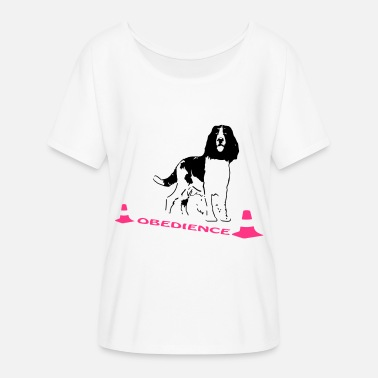 Letter Obedience Springer Spaniel in box - Women's Batwing T-Shirt