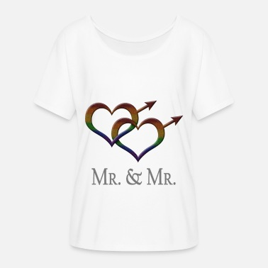 Mrs Mr. and Mr. - Gay Pride - Marriage Equality - Women's Batwing T-Shirt