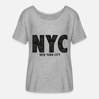 Nyc NYC - T-shirt manches chauve-souris Femme