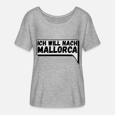 Comic speech bubble Mallorca - Women's Batwing T-Shirt