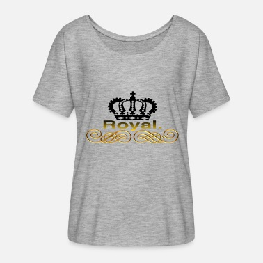Royal Prinzessin Royal. - Frauen T-Shirt mit Fledermausärmeln von Bella + Canvas
