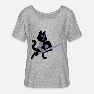 Chivalry cat knight / chivalry Cat - Women's Batwing T-Shirt