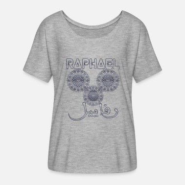Integration Lustig RAPHAEL ARABESQUE NAME ARABISCH - Frauen T-Shirt mit Fledermausärmeln von Bella + Canvas