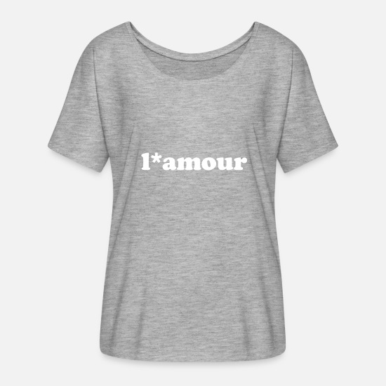 Emancipation T-Shirts - l * amour typography - Women's Batwing T-Shirt heather grey