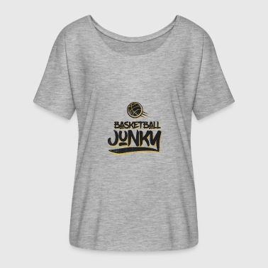 Turnover Basketball Junky - Frauen T-Shirt mit Fledermausärmeln von Bella + Canvas