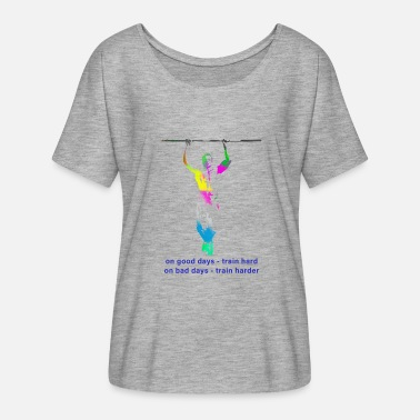 Pull Up Pull Up - Women's Batwing-Sleeve T-Shirt by Bella + Canvas