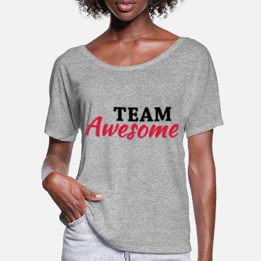 Team Awesome Team Awesome - Maglietta con maniche a pipistrello donna