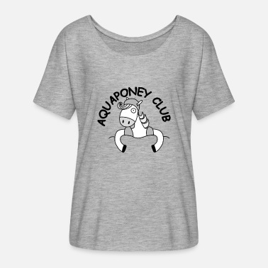Aquaponey Club - Frauen Fledermaus T-Shirt