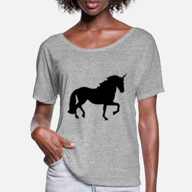 Ascot Unicorn - Women's Batwing T-Shirt