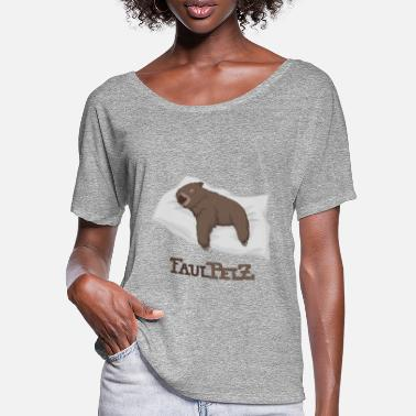 Illustration Faulpelz / Schlafender Wombat - Frauen Fledermaus T-Shirt