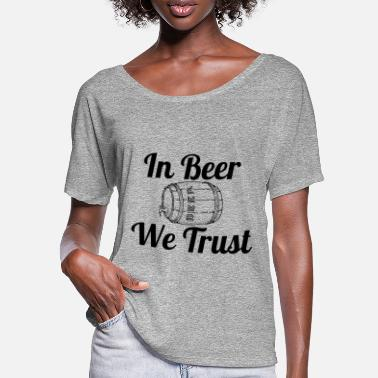In Beer wi trust - T-shirt manches chauve-souris Femme