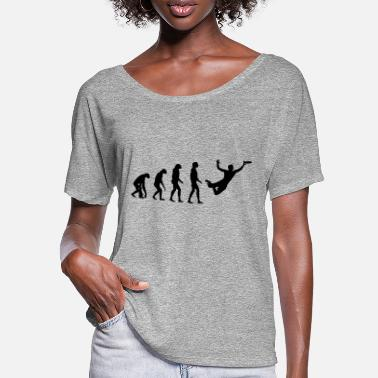 Frisbee Ultimate Frisbee Evolution - Frauen Fledermaus T-Shirt