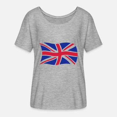 Damen T-Shirt Love England Herz Flagge Great Britain United Kingdom Shirt