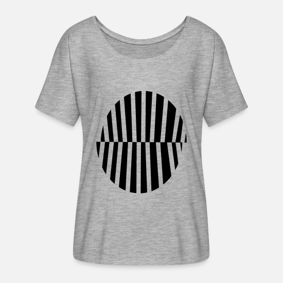 Psychedelic T-Shirts - circle - Women's Batwing T-Shirt heather grey