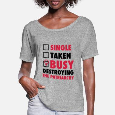 Destroyed SINGLE / FORGIVENESS / DESTROYED THE FEMINISTS - T-shirt manches chauve-souris Femme