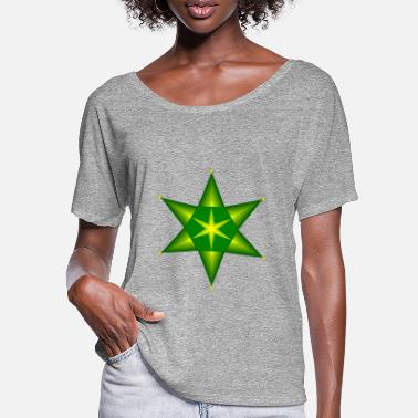Green And Gold Poinsettia in green and gold - Women's Batwing T-Shirt