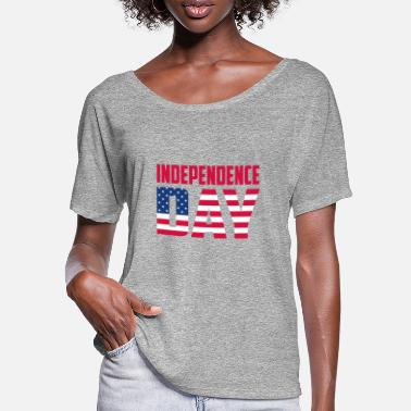 Independence Day Independence day - T-shirt manches chauve-souris Femme