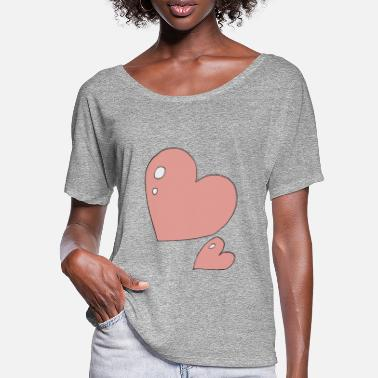 Print Two Hearts heart to Heart - Women's Batwing T-Shirt