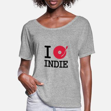 Indie i dj / play / listen to indie - T-shirt manches chauve-souris Femme