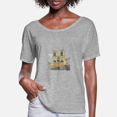 Notre Dame Notre Dame - Camiseta mujer con mangas murciélago