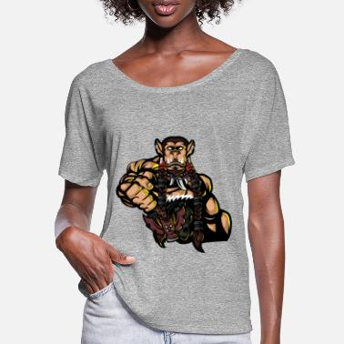 Totemwerfer Logo Golden - Frauen Fledermaus T-Shirt