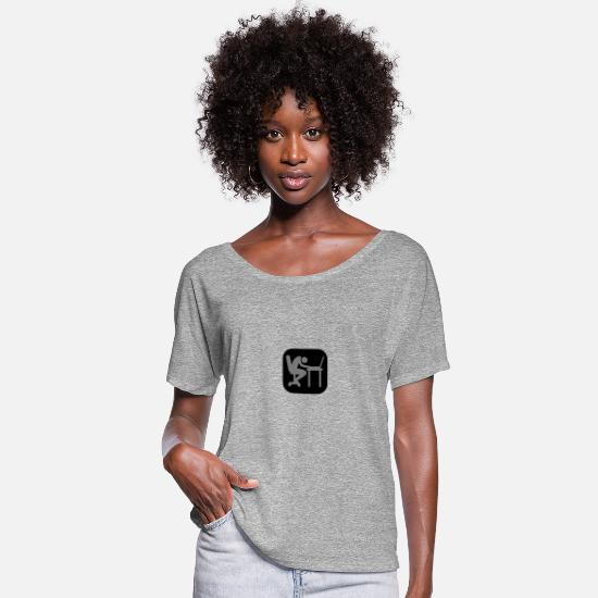 Computer T-Shirts - Laptop exhausted sleep logo - Women's Batwing T-Shirt heather grey
