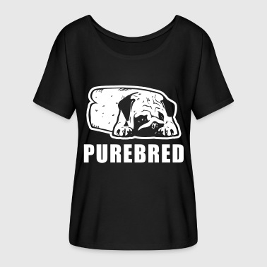 Purebred - Women's Batwing-Sleeve T-Shirt by Bella + Canvas