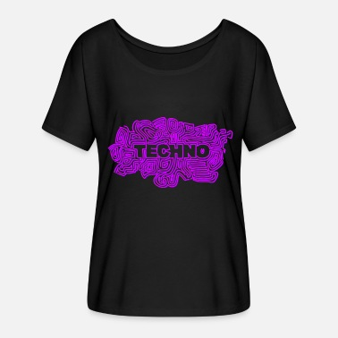 Psychedelic Black Light Techno Psy - Women's Batwing-Sleeve T-Shirt by Bella + Canvas