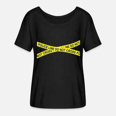 Police Line Do Not Cross Police line do not cross - Women's Batwing-Sleeve T-Shirt by Bella + Canvas