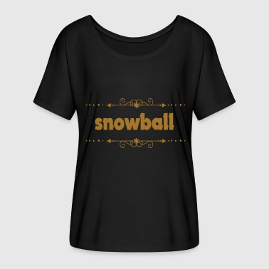Snowball Fight snowball - Women's Batwing-Sleeve T-Shirt by Bella + Canvas