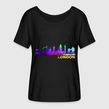 London London London London - Women's Batwing-Sleeve T-Shirt by Bella + Canvas