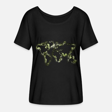 World Map World World Map Map - Women's Batwing-Sleeve T-Shirt by Bella + Canvas