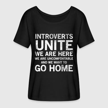 Introverts Unite Anti Social T-shirt - Dame T-shirt med flagermusærmer fra Bella + Canvas