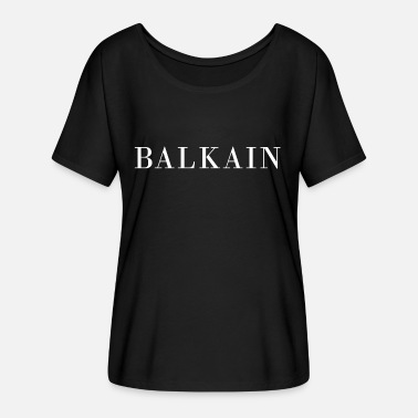 Balkain - Women's Batwing-Sleeve T-Shirt by Bella + Canvas