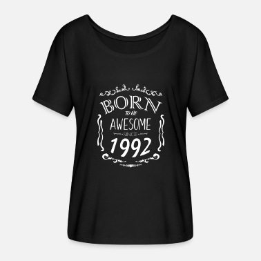 1992 Awesome Born to be Awesome since 1992 - Women's Batwing-Sleeve T-Shirt by Bella + Canvas