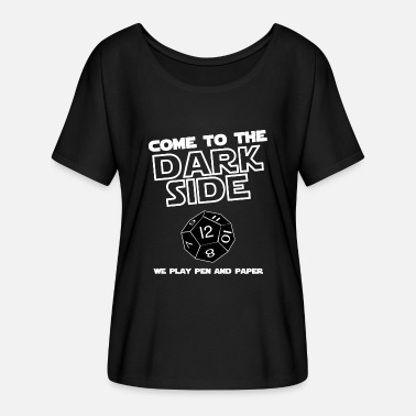 Come To The Dark Side We Have Cookies Darkside pen and paper - Women's Batwing-Sleeve T-Shirt by Bella + Canvas