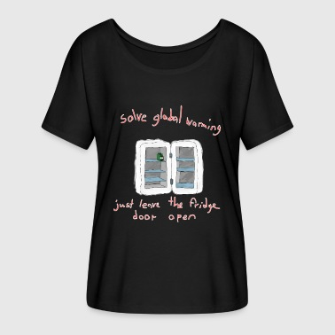 solve global warming - Frauen T-Shirt mit Fledermausärmeln von Bella + Canvas