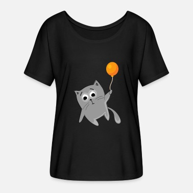 Flying Cat Flying Cat Flying - Cat - Women's Batwing-Sleeve T-Shirt by Bella + Canvas