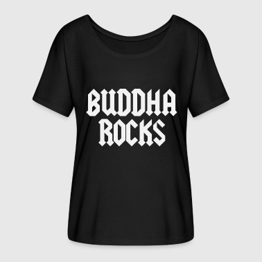 Rock God Buddha rocks - Women's Batwing-Sleeve T-Shirt by Bella + Canvas