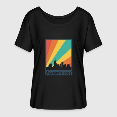 Trendy City Frankfurt city - Women's Batwing-Sleeve T-Shirt by Bella + Canvas