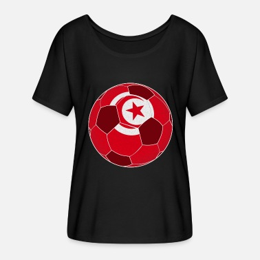Flag Of Tunisia Tunisia soccer flag flag gift - Women's Batwing-Sleeve T-Shirt by Bella + Canvas