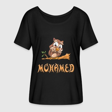 Mohammed Owl Mohamed - T-shirt manches chauve-souris Femme Bella + Canvas