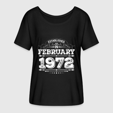1972 Established in February 1972 - Women's Batwing-Sleeve T-Shirt by Bella + Canvas